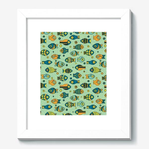 """Картина «Подводный мир. Орнамент """"Рыбки""""»"""