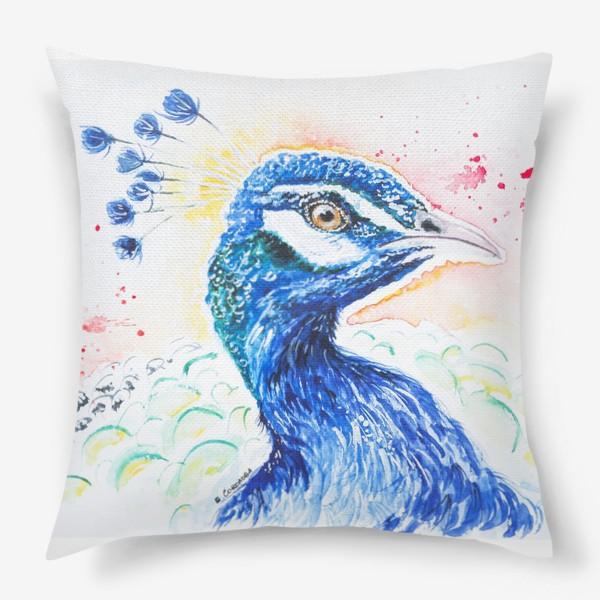 Подушка «Птица Павлин»