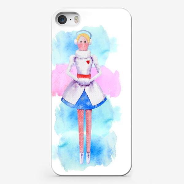 Чехол iPhone «Тильда Снегурочка»
