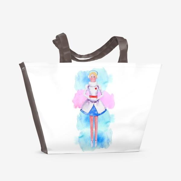 Пляжная сумка «Тильда Снегурочка»
