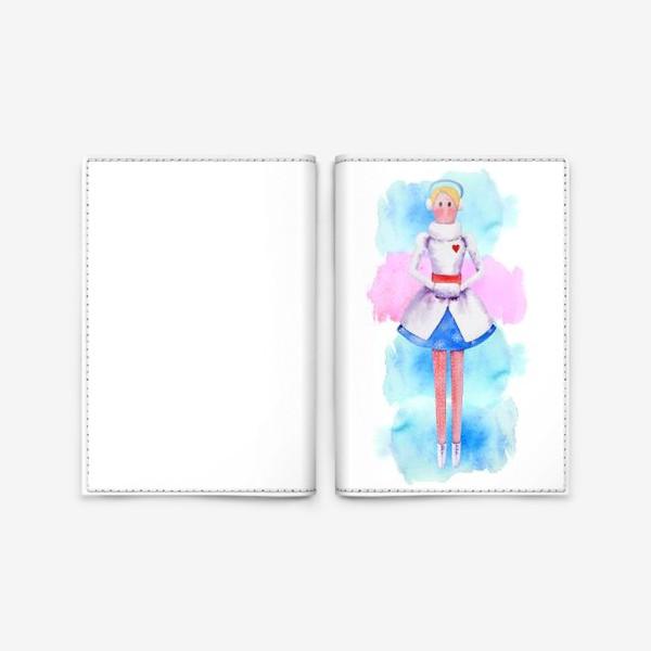 Обложка для паспорта «Тильда Снегурочка»