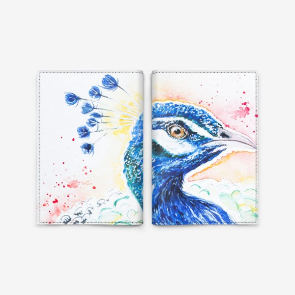 Обложка для паспорта «Птица Павлин»