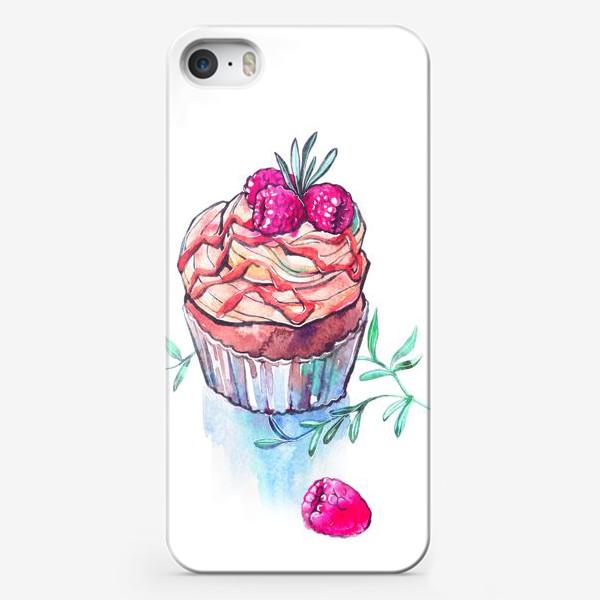 Чехол iPhone «Пироженое с малиной»