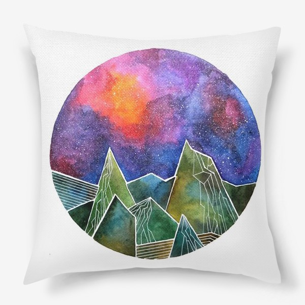 Подушка «Space mountains»
