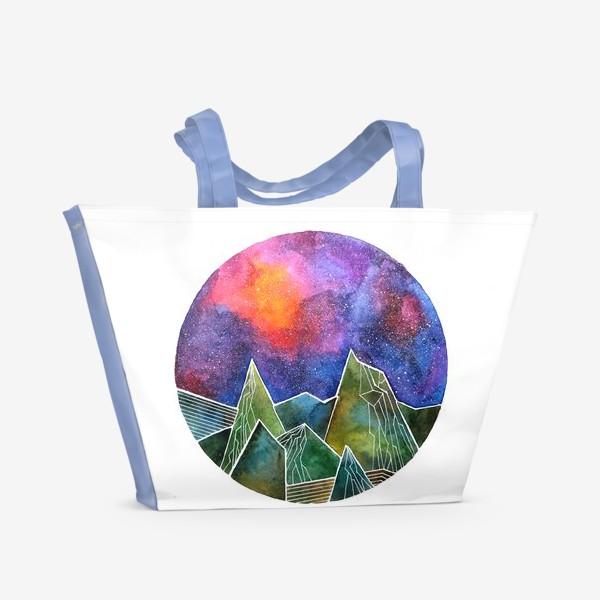 Пляжная сумка «Space mountains»