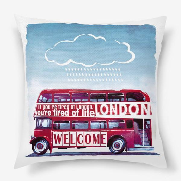 Подушка «London Bus»