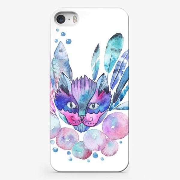 Чехол iPhone «Космический кот»