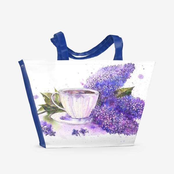 Пляжная сумка «Чай с сиренью»