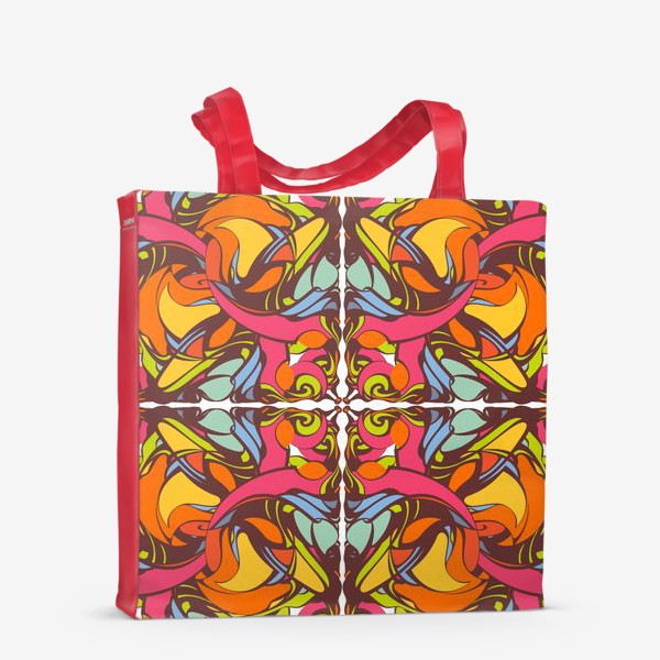 Сумка-шоппер «Абстрактный оранжевый узор»