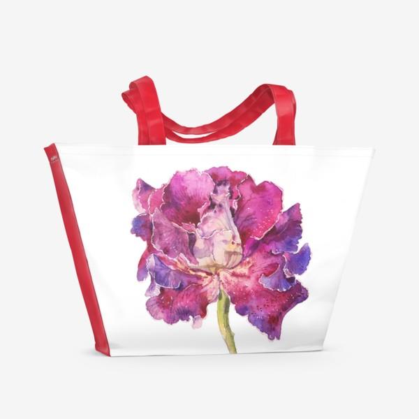 Пляжная сумка «Глоксиния»
