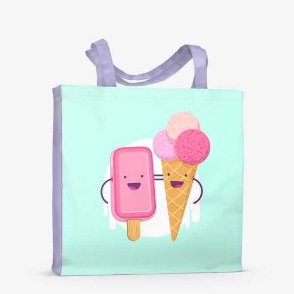 Сумка-шоппер «М-м-мороженое»