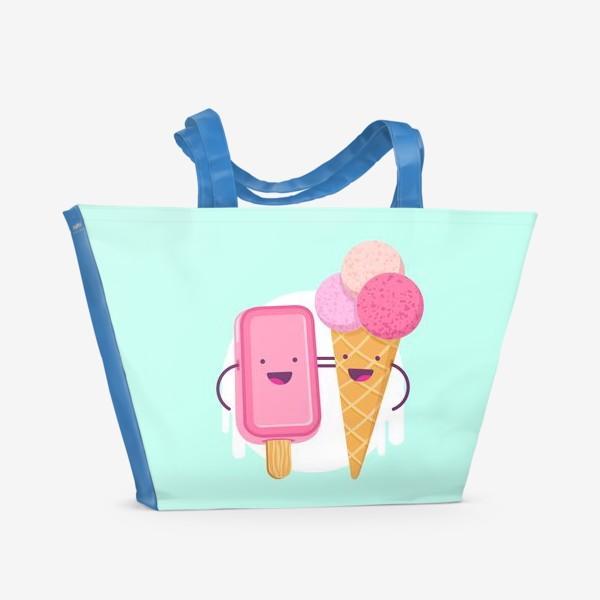Пляжная сумка «М-м-мороженое»