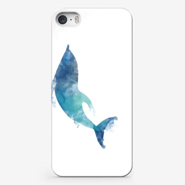 Чехол iPhone «Акварельный дельфин»