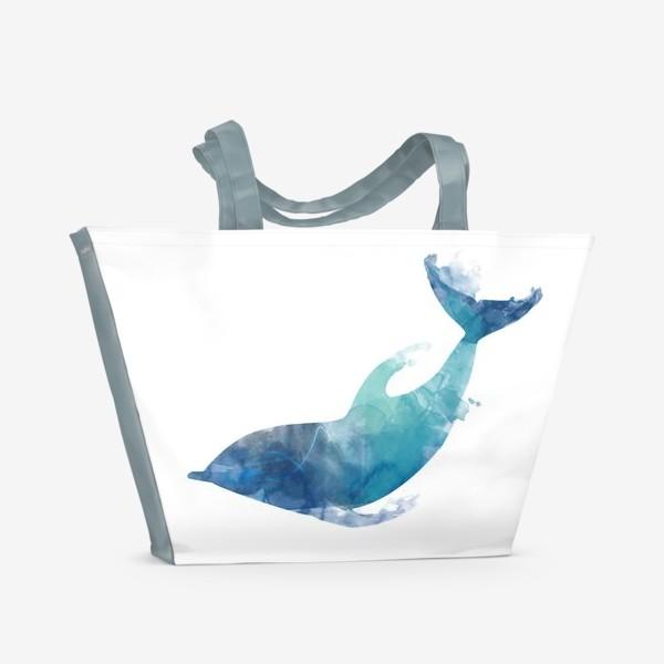 Пляжная сумка «Акварельный дельфин»