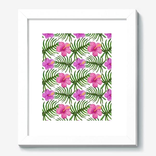 Картина «Palm Leaves and Hibiscus Гибискус Пальмовые Листья»
