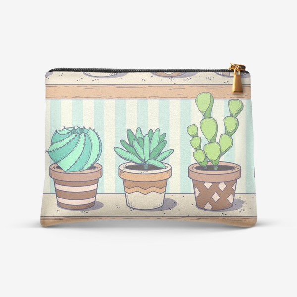 Косметичка «Succulents and cactus»