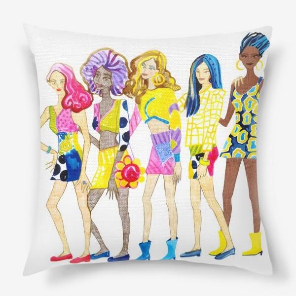 Подушка «Девченки»