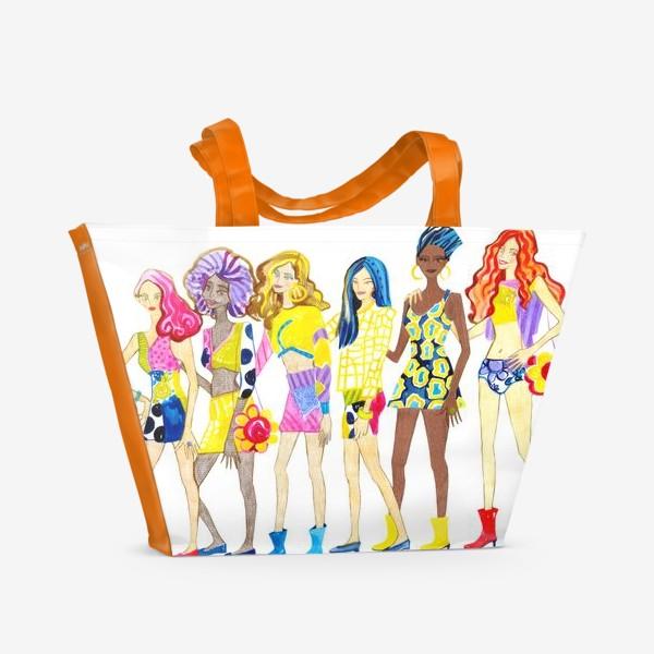 Пляжная сумка «Девченки»