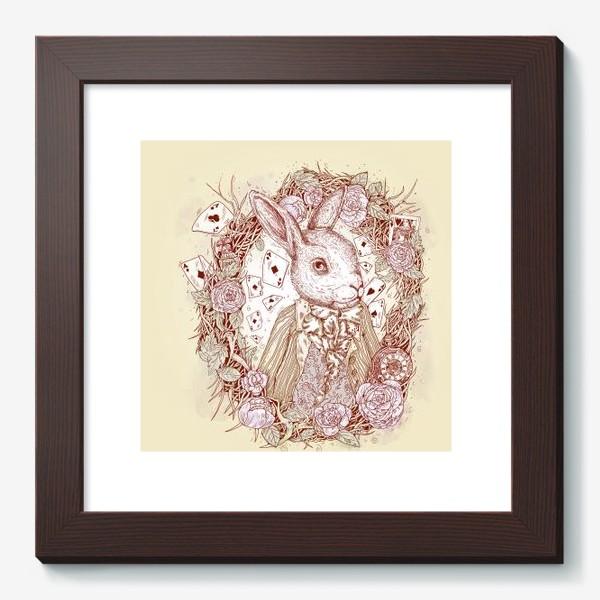 Картина «Белый кролик из Алисы в стране чудес»