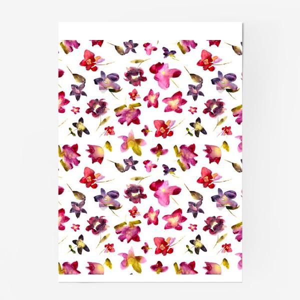 Постер «Floral vibes \\ Акварельные цветы»