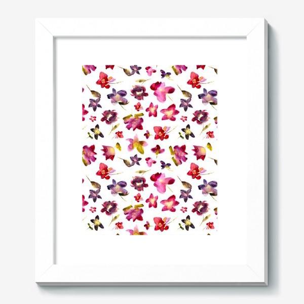 Картина «Floral vibes \\ Акварельные цветы»