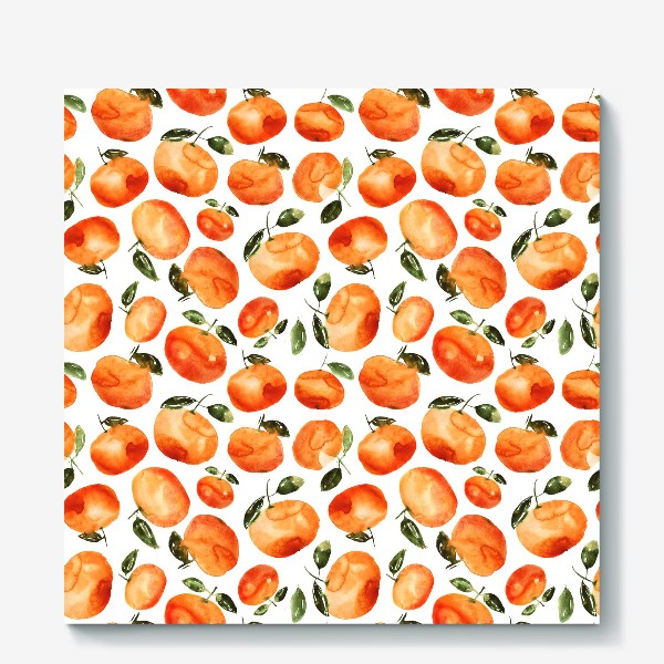 Холст «Акварельные мандаринки»