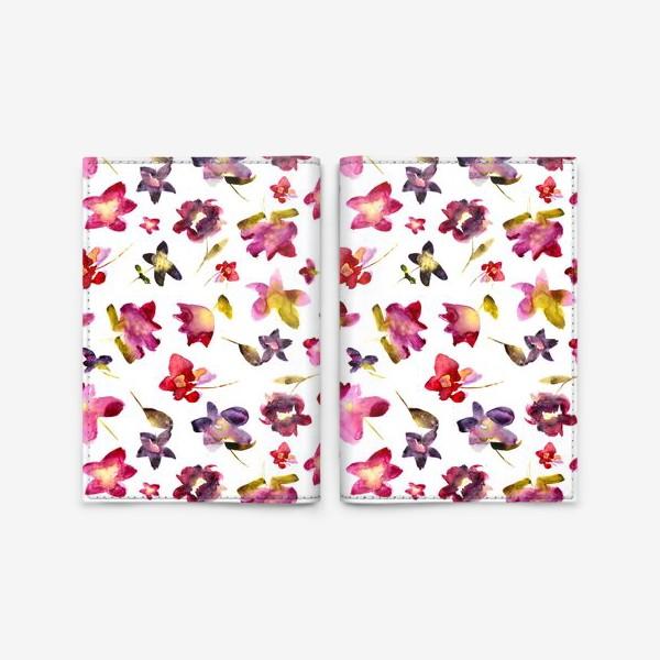 Обложка для паспорта «Floral vibes \\ Акварельные цветы»