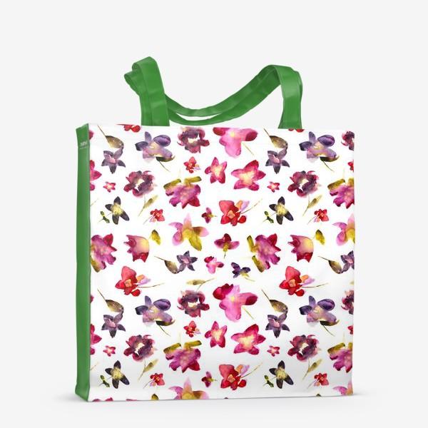 Сумка-шоппер «Floral vibes \\ Акварельные цветы»