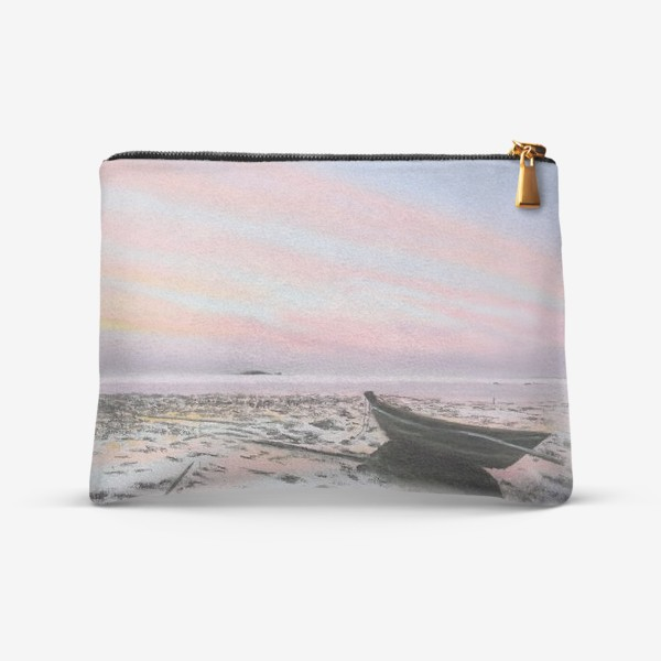 Косметичка «закат на море с лодкой»