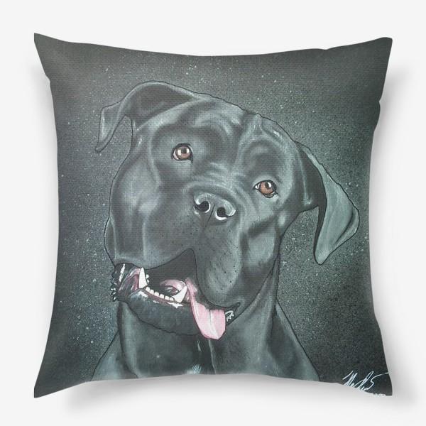 Подушка «Чёрный пёс.»