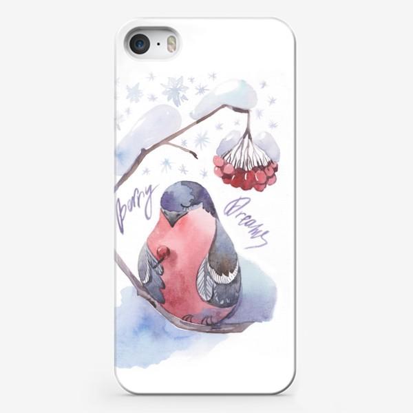 Чехол iPhone «Снегирь с рябиной»