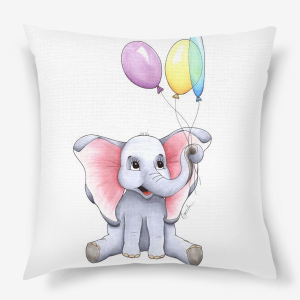 Подушка «Слоненок с шариками»