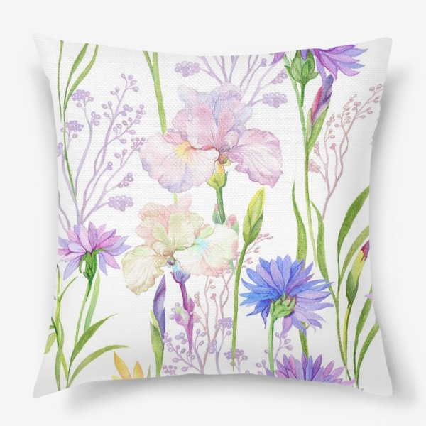 Подушка «узор с цветами»