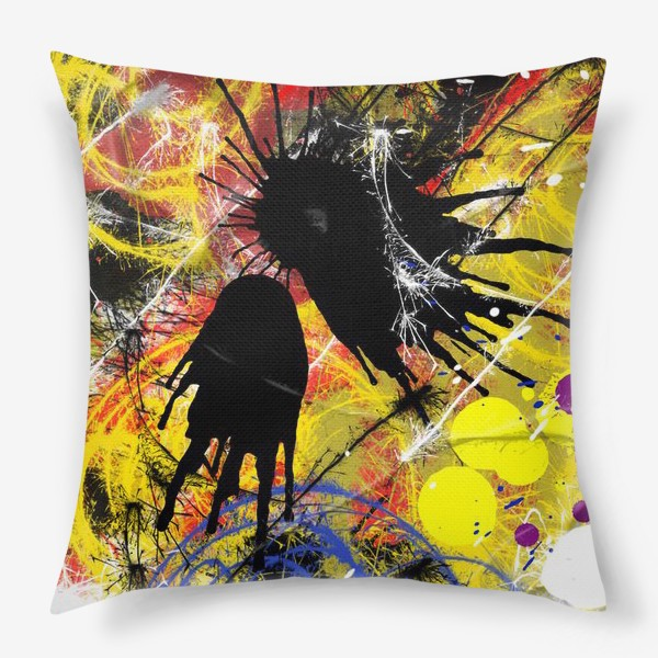 Подушка «Пятна и брызги краски»