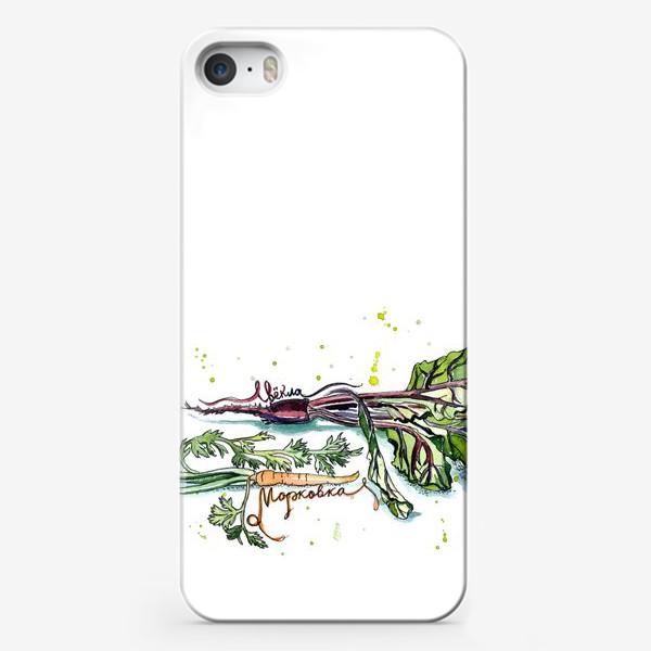 Чехол iPhone «Свёкла и морковка»
