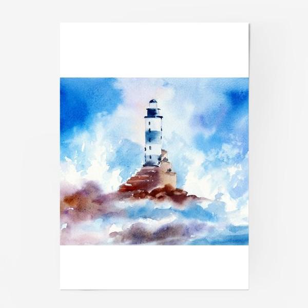 Постер «Маяк в волнах»