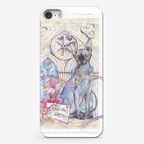 Чехол iPhone «Сфинкс, альстромерии и готика»