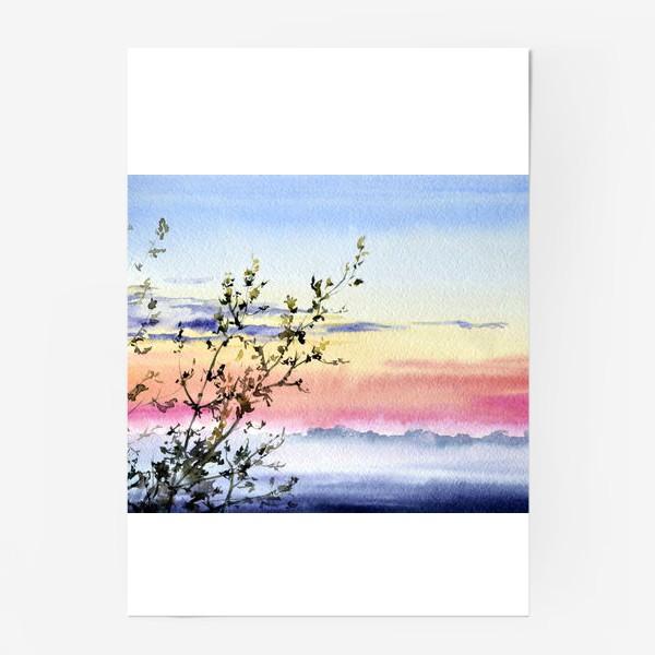 Постер «Закат и туман»