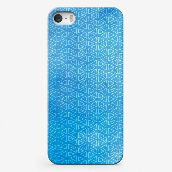 """Чехол iPhone «Морской синий паттерн """"флажки""""»"""