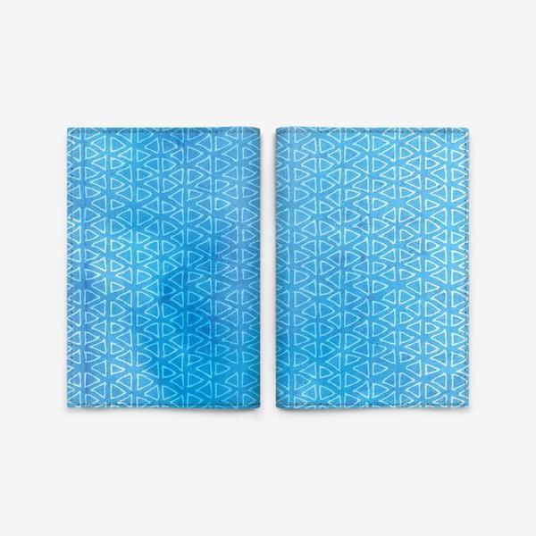 """Обложка для паспорта «Морской синий паттерн """"флажки""""»"""