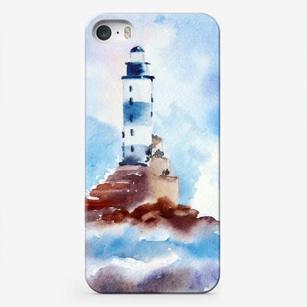 Чехол iPhone «Маяк в волнах»