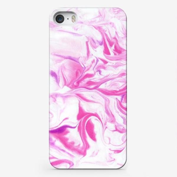 Чехол iPhone «Розовый мрамор»