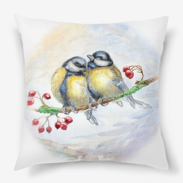 Подушка «Синички»