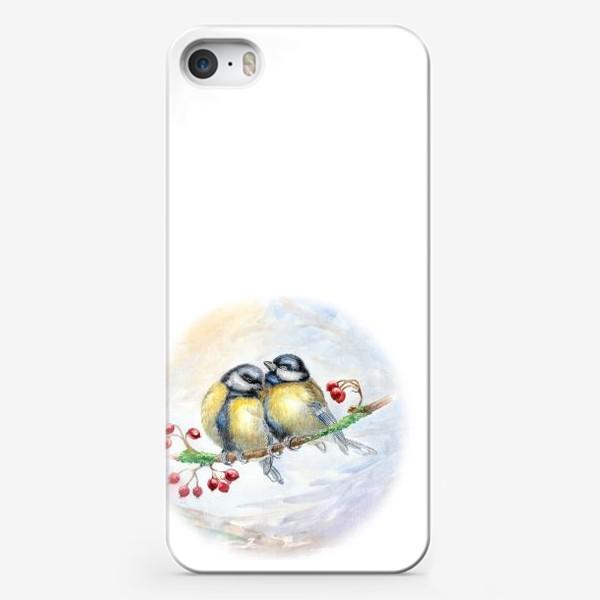 Чехол iPhone «Синички»