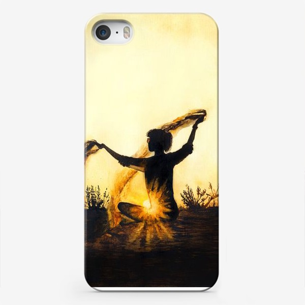 Чехол iPhone «Песок времени. Медитация.»