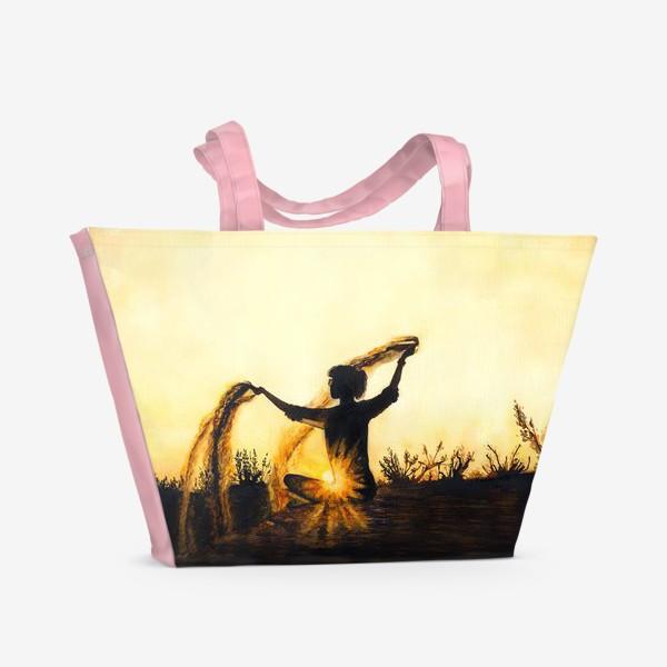 Пляжная сумка «Песок времени. Медитация.»