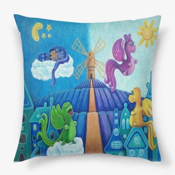 Подушка «Милые дракончики.»
