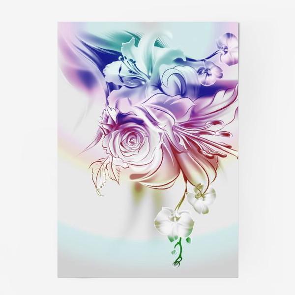 Постер «Лилия, роза и орхидея»
