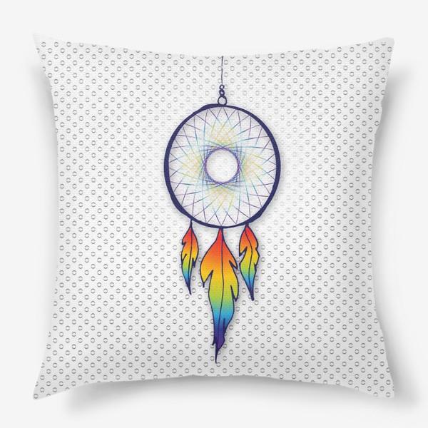 Подушка «Радужный ловец снов»
