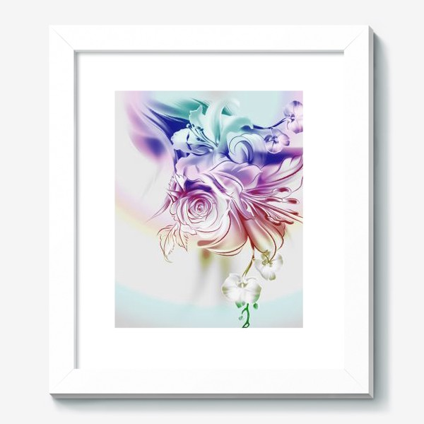 Картина «Лилия, роза и орхидея»